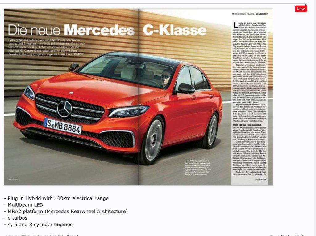 メルセデスベンツ新型Cクラス W206