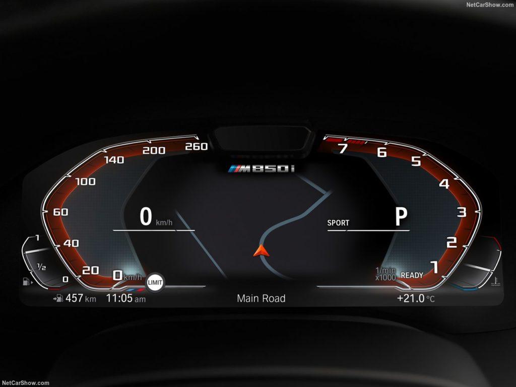 BMW8シリーズクーペ 内装 メーター