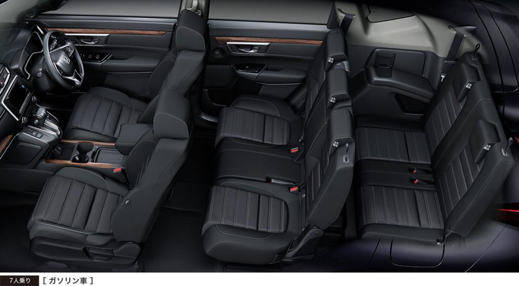 新型CR-Vの内装 3列目シート