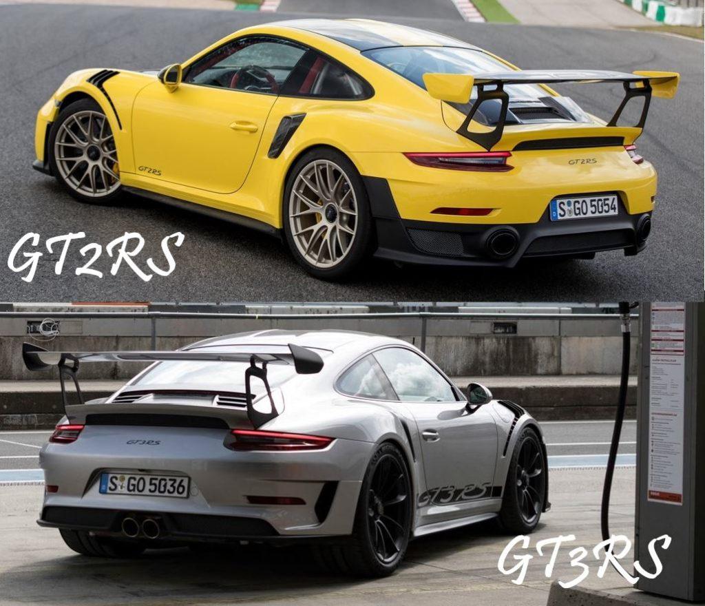 ポルシェGT2RSとポルシェGT3RS